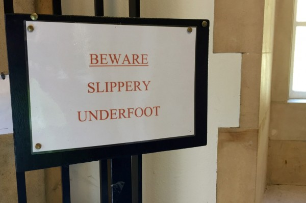 Slippery Underfoot